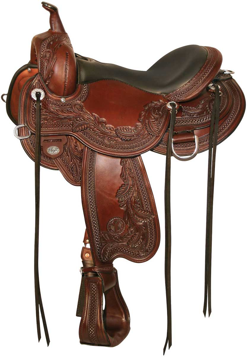 1750 Wind River Flex 2 Western Trail Horse Saddle Circle Y