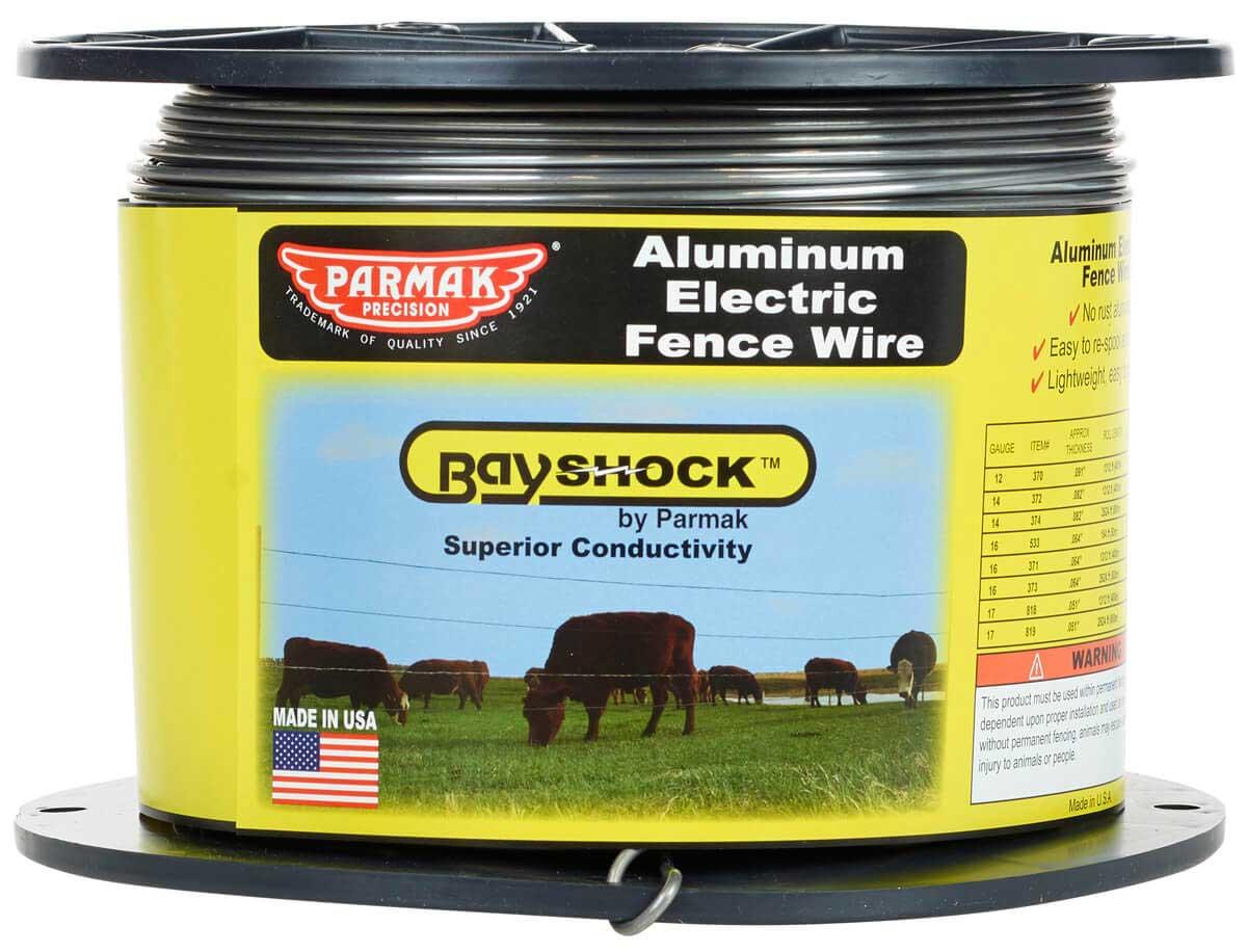 hight resolution of bayshock 12 gauge aluminum electric fence wire 1312 item 45635