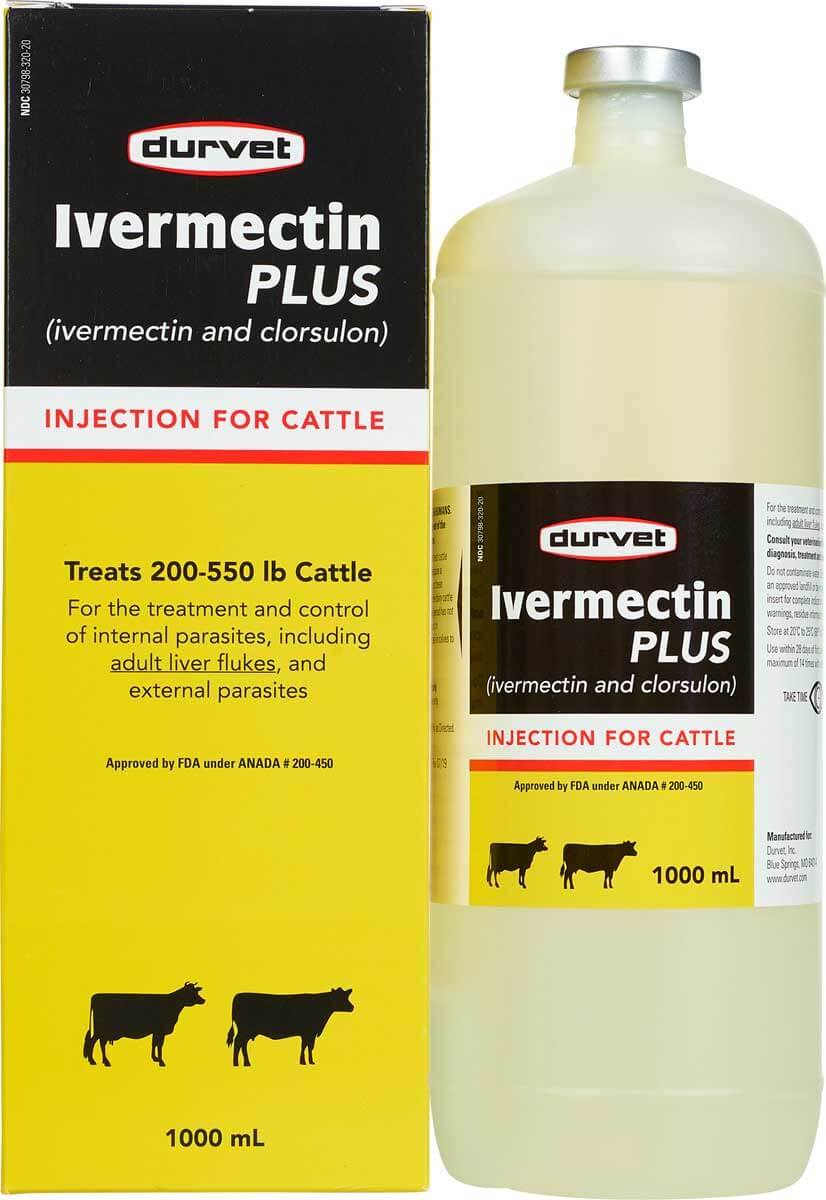 Ivermectin Plus Injection for Cattle Durvet - Injectables ...