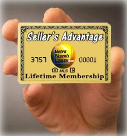 picture of membership card indicating the advantages of short selling your house with Metro Phoenix Homes