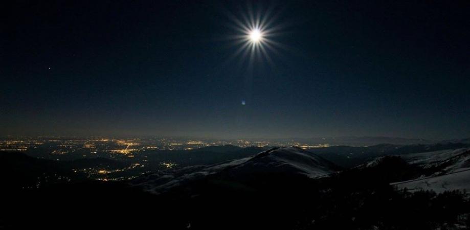 Luna piena di gennaio  Vallidelmonviso