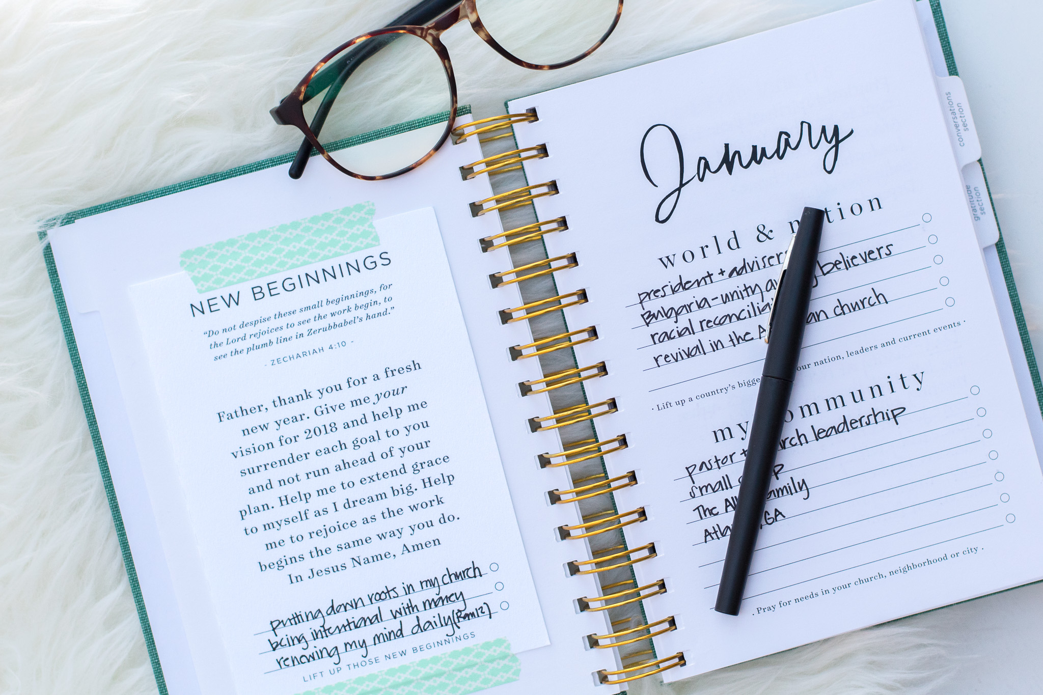 Monthly Prayer Prompt January Val Marie Paper
