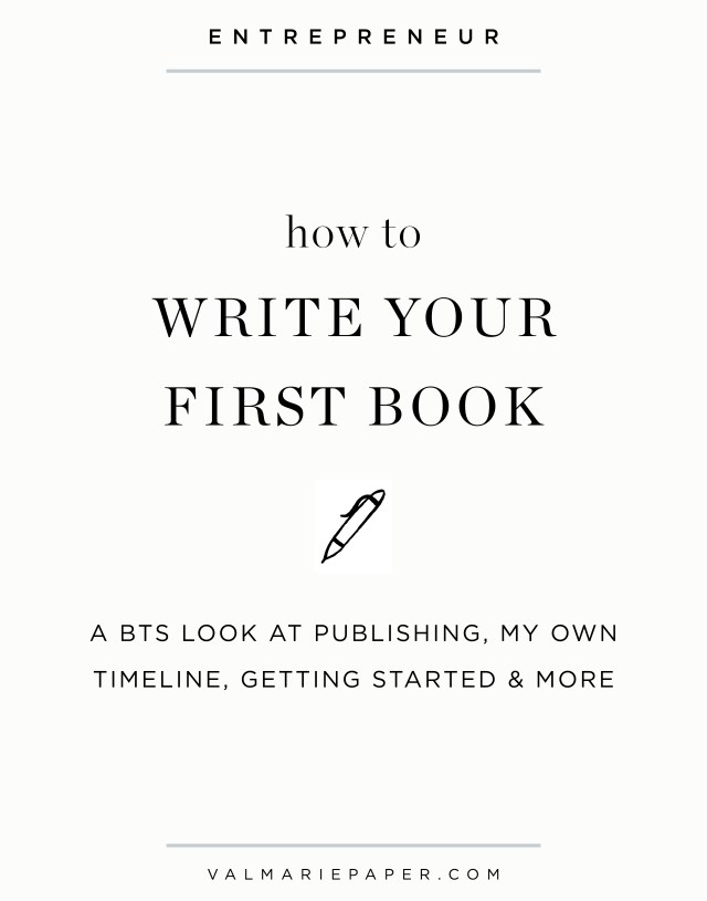 Want to write a book? • Val Marie Paper