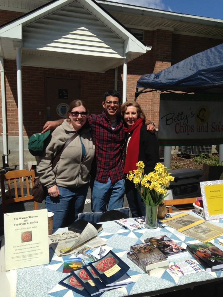 A chilly but beautiful day. May 25, 2013 in Purcellville, VA with authors Linda Sittig and Colin Cutler.
