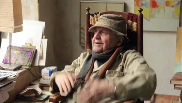 Saul Leiter. Kuva Tomas Leachin elokuvasta In No Great Hurry.