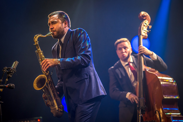 Timo Lassy, saksofoni ja Antti Lötjönen, basso, Tampere Jazz Happening 2013