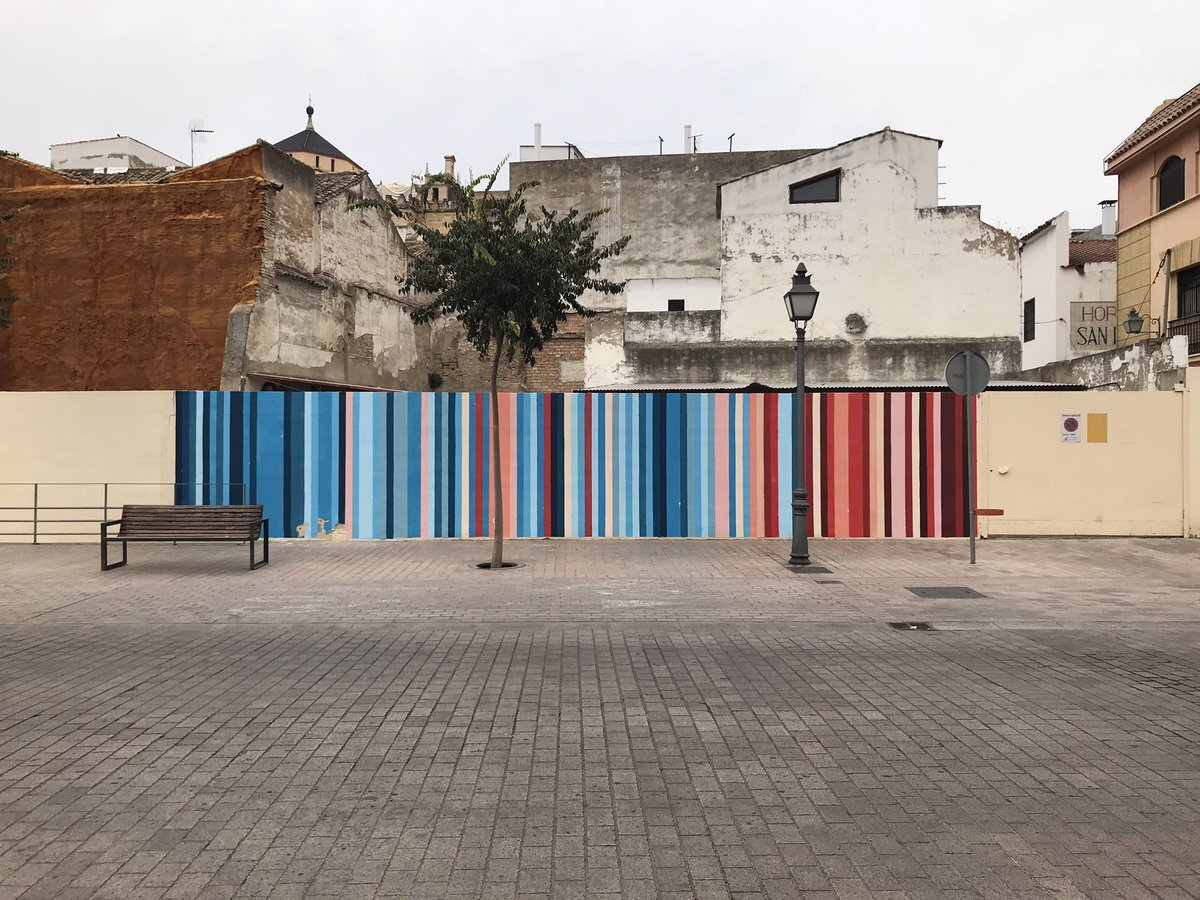 Mural Climate Stripes