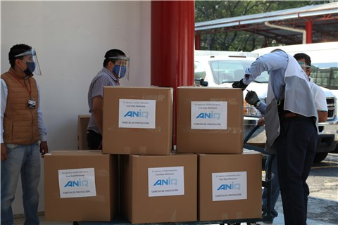 Donación de caretas a la Cruz Roja Mexicana