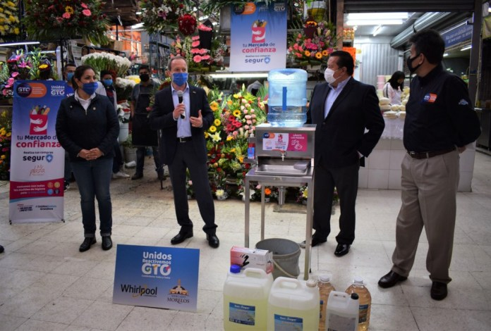 Gobierno de Guanajuato y Whirlpool se unen para contrarrestar propagación de COVID-19