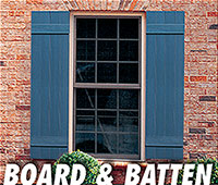 Valor board & batten vinyl shutters