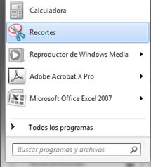 Capturas de pantalla en Windows - Recortes
