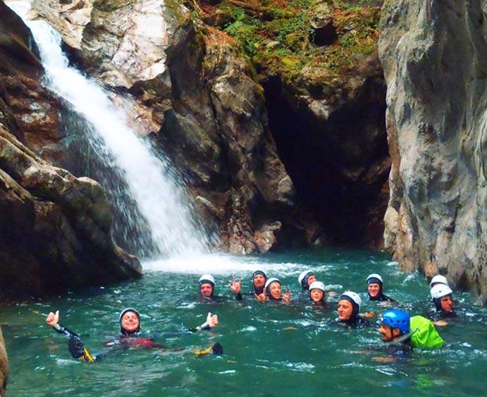 Canyoning a Fiumenero piccola localit in alta ValSeriana