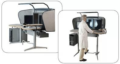 Alternativ mellem siddende og stående stilling. Juster bordet for din egen personlige højde og fysik.