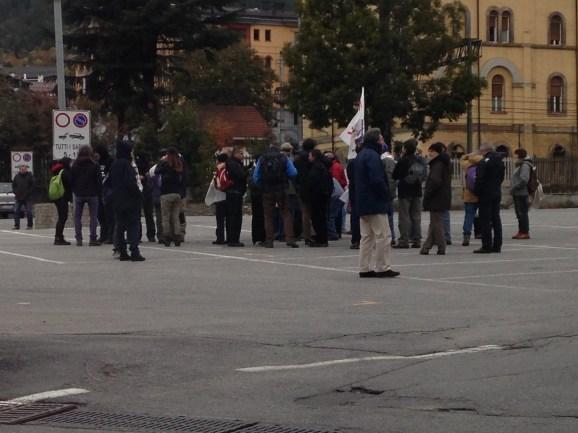 Il ritrovo in Piazza Statuto