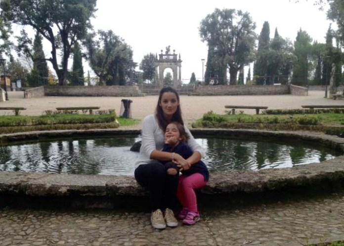Anna Rita oggi a Perugia con la sua bambina, poche ore prima del terremoto