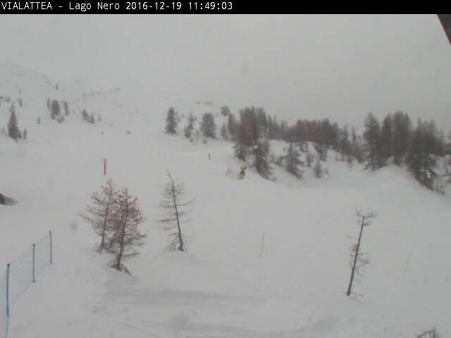 La webcam Vialattea di Sauze d'Oulx che riprende l'area del Lago Nero
