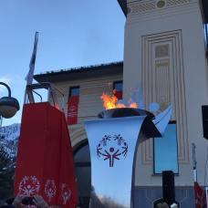 Cerimonia apertura Special Olympics torcia olimpica