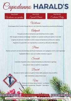 Haralds Menu Capodanno 2018-2019