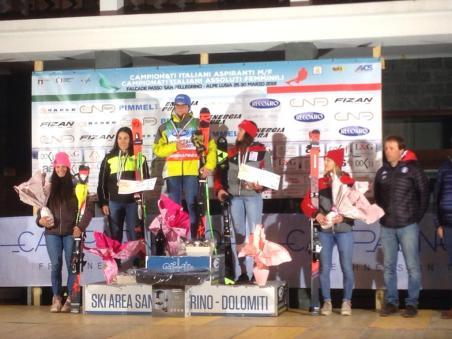 podio_Combinata_C.I. Aspiranti_Passo San Pellegrino_27_03_2019_1
