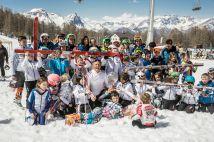 Foto di gruppo con Cdm alla festa dei 40 anni - 2014