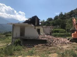 Frana Bussoleno - demolizione utima casa