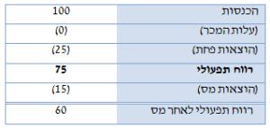 היוון תזרים מזומנים (DCF) - לאחר הוצאות פחת