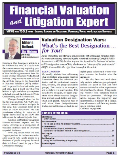 Financial Valuation and Litigation Expert