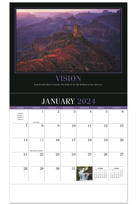 2020 Motivation Calendar  1078 x 18 Custom