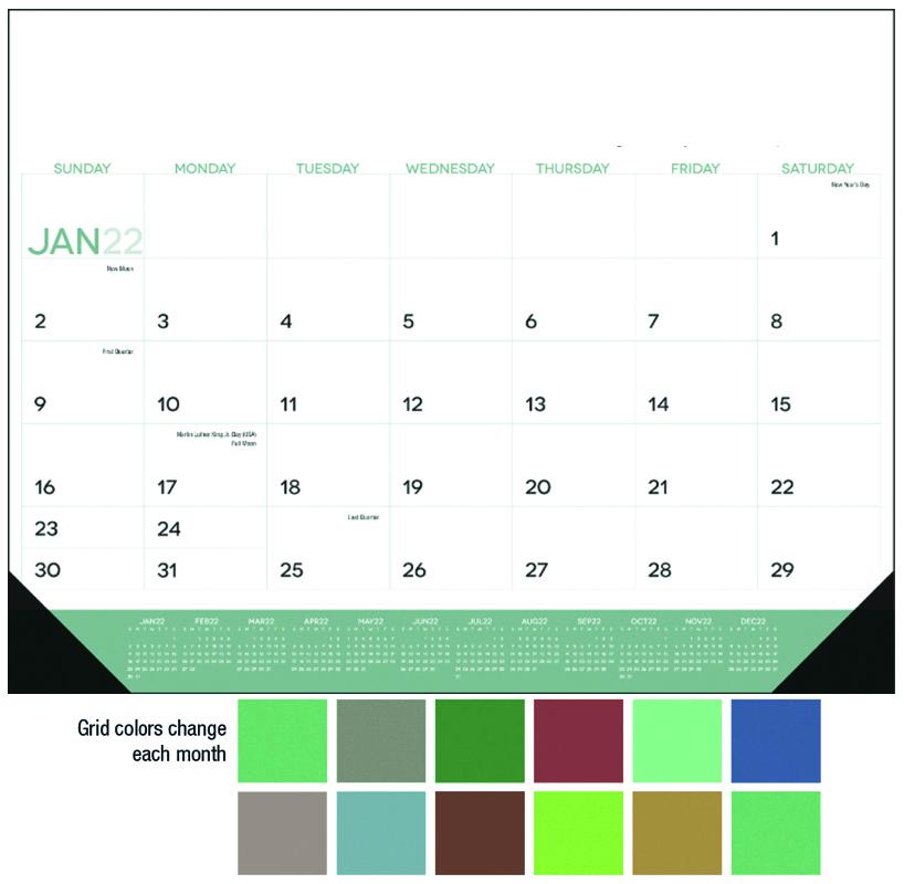 2020 Modern Desk Pad Calendar  22 x 17 Full Color Deskpad Calendars