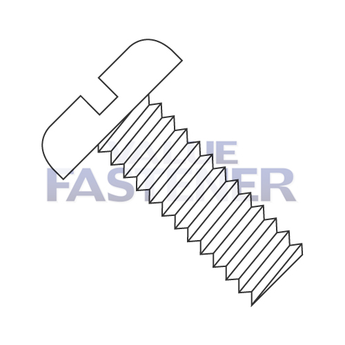 6-40X1/4 Slotted Pan Machine Screw Fully Threaded Nylon