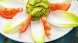 salad decoration with endive