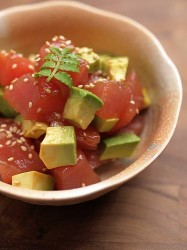 tuna fish and avocado