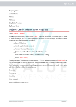 Credit Information Request