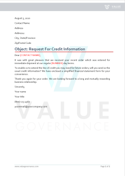 Request for Credit Information