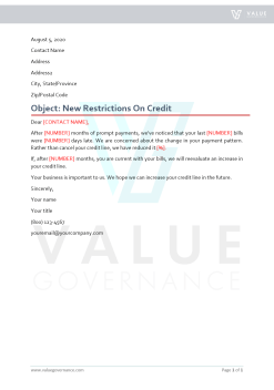 Restrictions on Credit