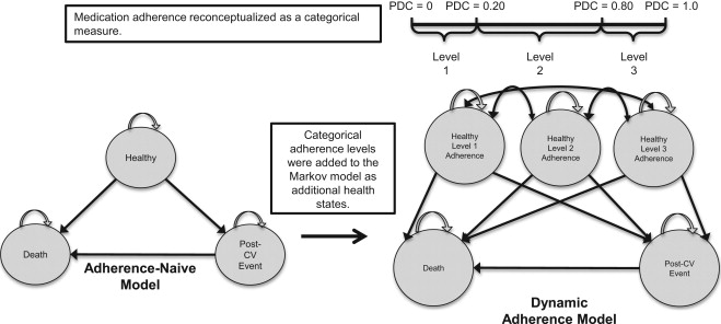 Dynamic Medication Adherence Modeling in Primary