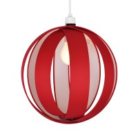 Modern Red Fabric Cocoon Ceiling Light Fitting Pendant