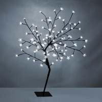 Modern White LED 4ft Cherry Blossom Willow Tree Twig Floor ...