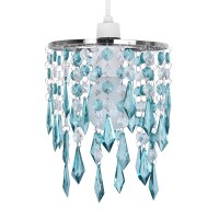 Teal Blue Green Acrylic Crystal Ceiling Light Lamp Shade ...