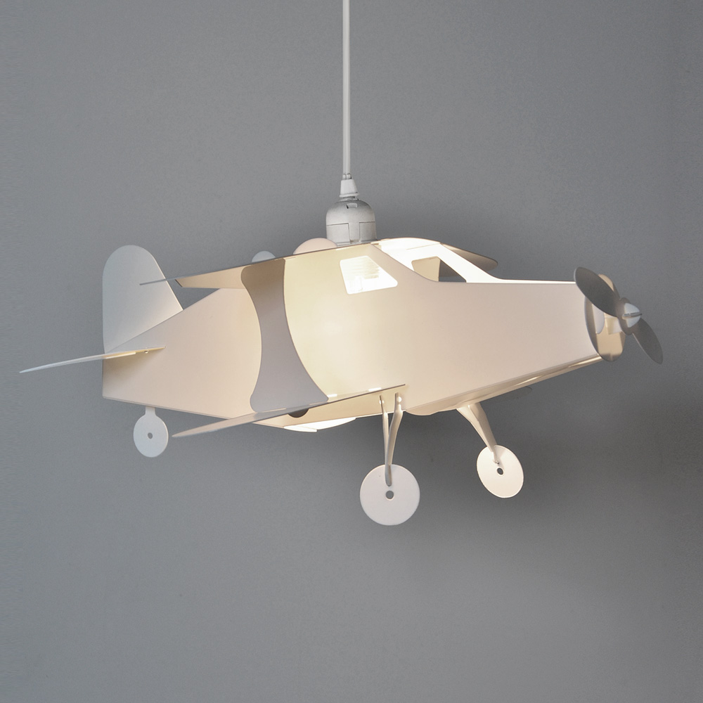 Childrens Boys Bedroom Nursery Aeroplane Ceiling Pendant