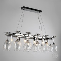 Chrome Wine Glass Chandelier Kitchen Dining Breakfast Bar ...