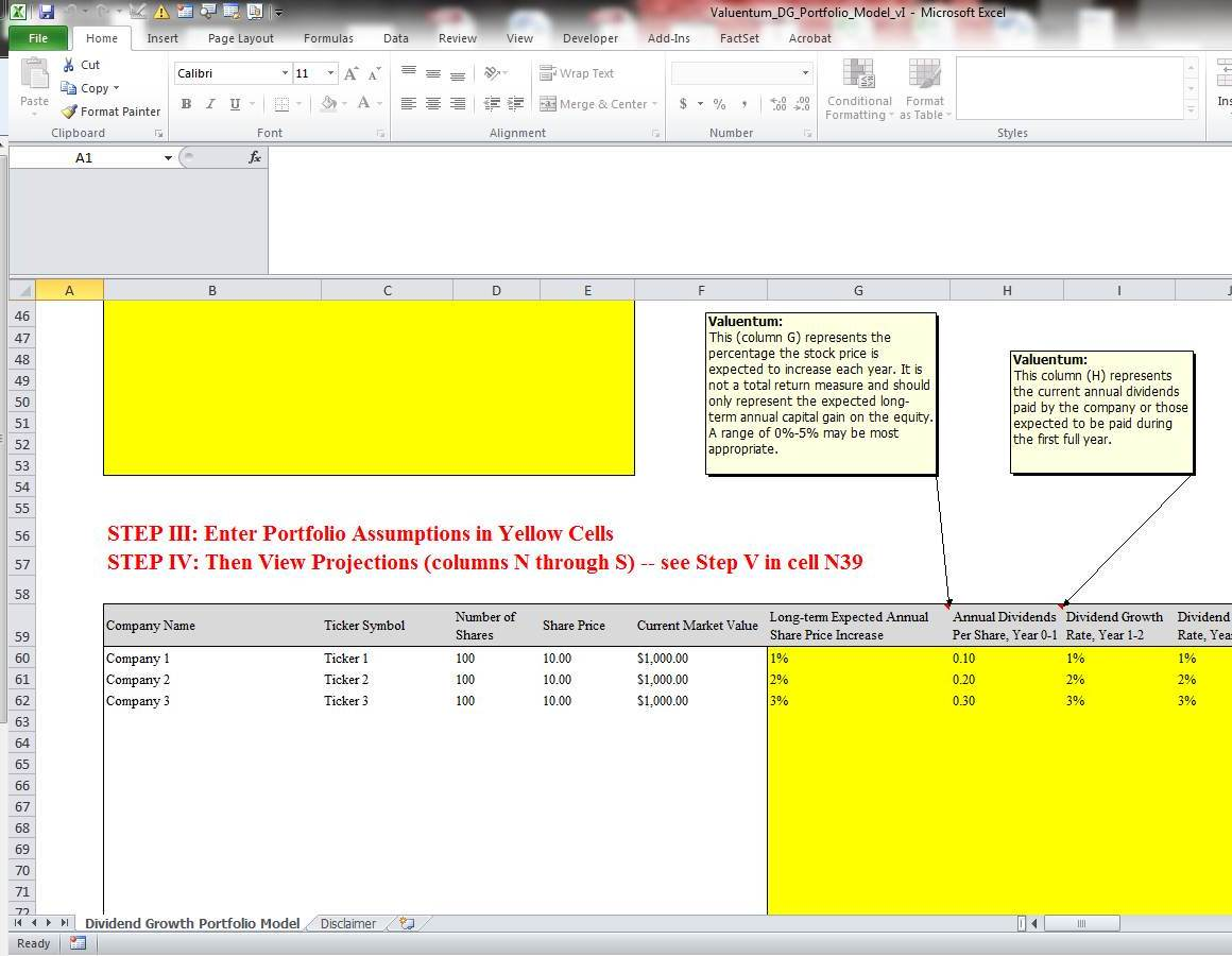 Dividend Growth Portfolio Modeling Made Easy