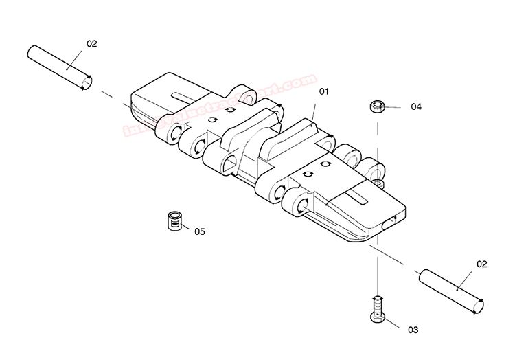 Quality Terex Demag Terex Demag Track Pad CC2200