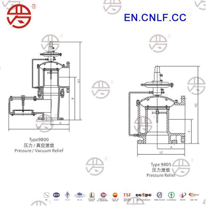 Lf-9800 Pilot Operated Pressure/Vacuum Relief Valve