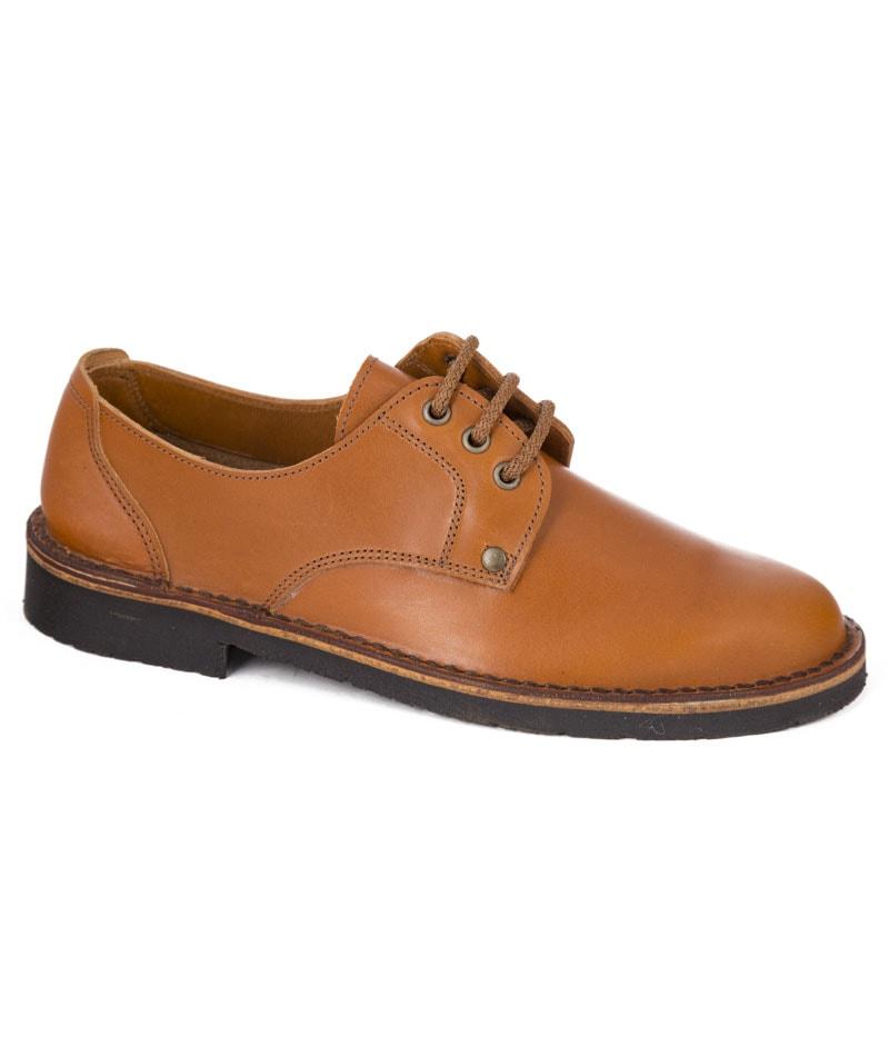 Zapato piel sport Costero con cordon hecho en Valverde del