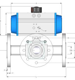3 way flanged spring return stainless steel ball valve [ 1189 x 766 Pixel ]