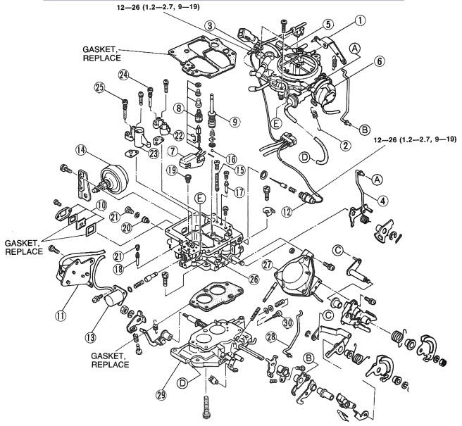 diagrama carburador chevrolet luv 93