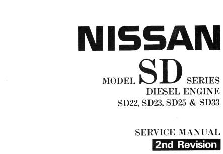 Manual de Servicio Nissan SD22, SD23, SD25, SD33