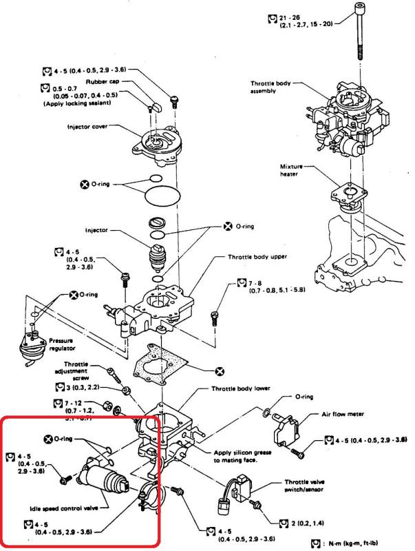 Nissan tsuru iii 8 valvulas tapa roja Valvula iac en tsuru