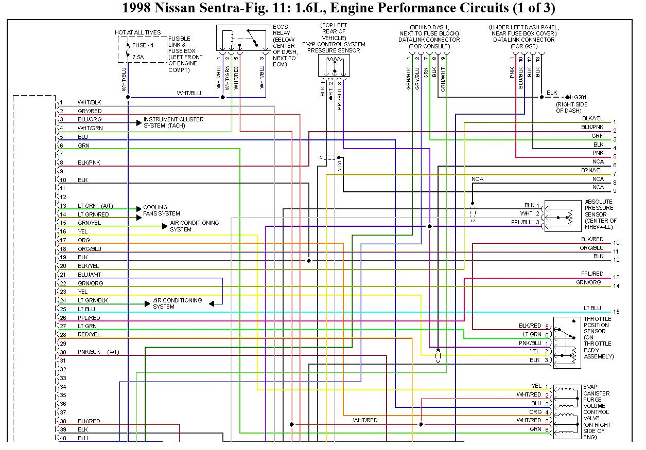 honda civic wiring diagram trailer brake light ecu pinout del nissan ga16de, ga16dne, diagramas eléctricos